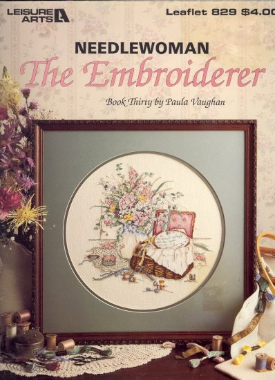 The Embroiderer by Paula Vaughan ~ Cross-Stitch Chart 1989