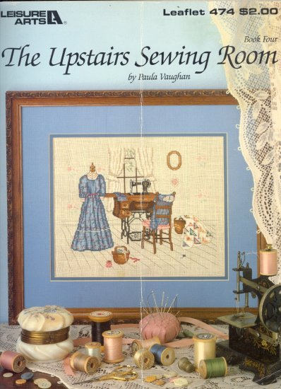 The Upstairs Sewing Room by Paula Vaughan ~ Cross-Stitch Chart 1986
