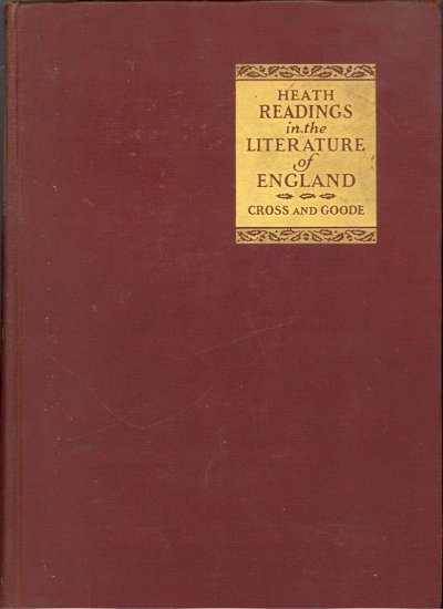 Heath Readings in the Literature of England by Tom Peete Cross and Clement Tyson Goode ~ Book 1927