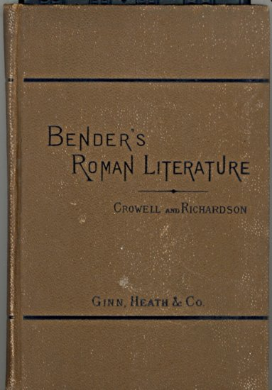 Bender's Roman Literature by Hermann Bender ~ Book 1885