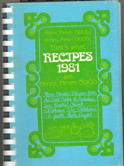 Mmm, Mmm, Good! Recipes 1981 ~ Cook Book 1981