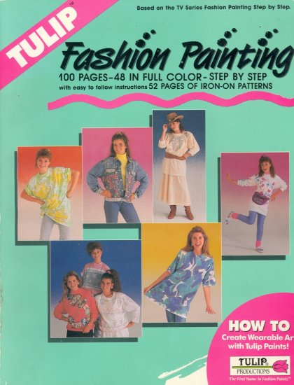 Tulip Fashion Painting Iron-On Transfer ~ 1990 Book