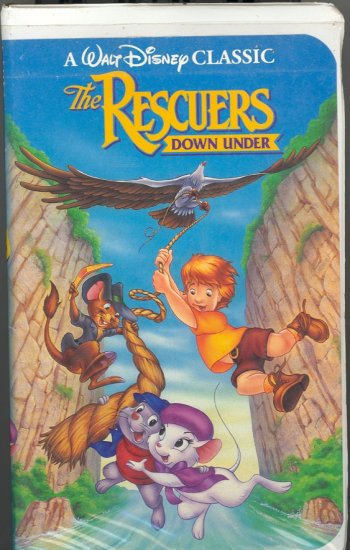 The Rescuer's Down Under ~ Walt Disney Classic ~ VHS Tape 1991