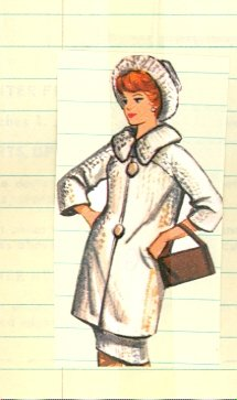 Vintage Barbie Coat and Hat Knit Pattern