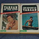 2 Vintage Books ~ Tarzan of the Apes & The Return of Tarzan by Edgar Rice Burroughs 1966 & 1967