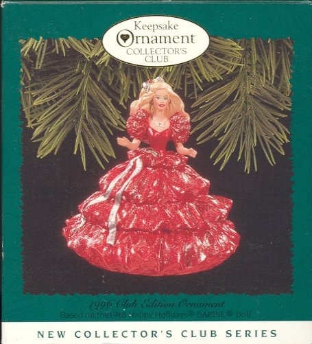 Hallmark Members Only Ornament ~ Holiday Barbie 1996 based on the 1988 Holiday Barbie