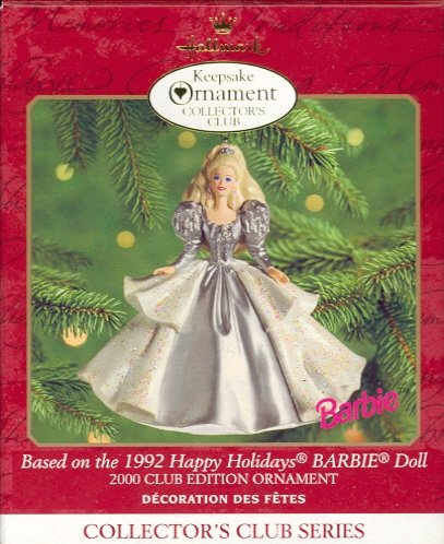 Hallmark Members Only Ornament ~ Holiday Barbie 2000 ~ based on the 1992 Holiday Barbie