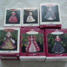 6 Hallmark Ornaments ~ Holiday Barbie 1993 - 1998 ~ Holiday Barbie series