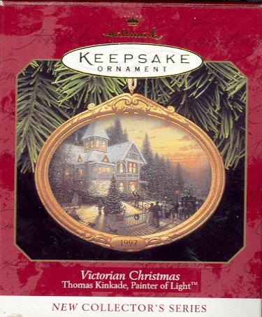 Hallmark Ornament ~ Victorian Christmas 1997 ~ Thomas Kinkade series