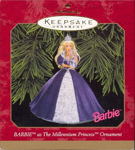 Hallmark Ornament ~ Millennium Princess Barbie 1999