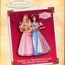 Hallmark Ornament ~ Barbie as the Princess and the Pauper 2004