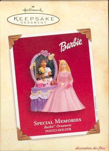 Hallmark Ornament ~ Special Memories Barbie Photoholder 2003