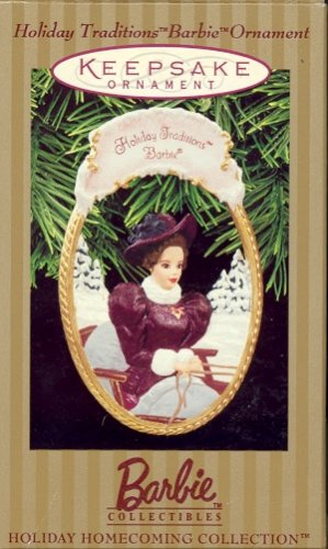 Hallmark Ornament ~ Holiday Traditions Barbie 1997