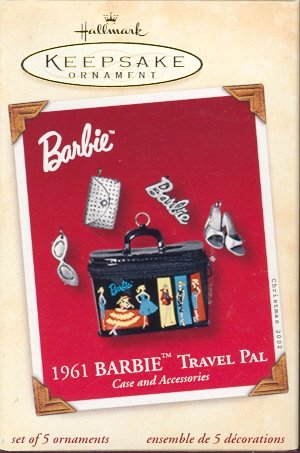 Hallmark Ornament ~ 1961 Barbie Travel Pal ~ 2002