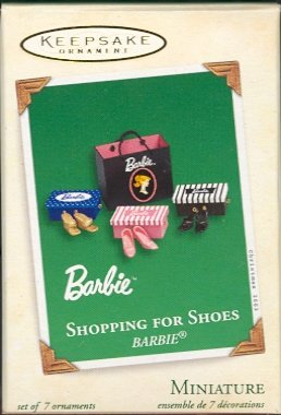 Hallmark Miniature Ornament ~ Barbie Shopping for Shoes ~ 2003