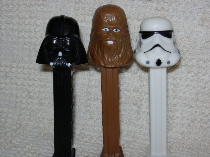 Star Wars ~ Darth Vader ~ Chewbacca ~ Stormtrooper ~ PEZ