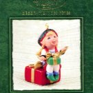 Hallmark Ornament ~ Santa's Big Night:  Curius The Elf 2002 ~ Tammy Haddix ~ Member Club Ornament