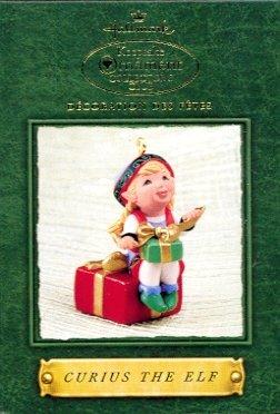 Hallmark Ornament ~ Santa's Big Night:  Curius The Elf 2002 ~ Tammy Haddix ~ Member Club Ornament