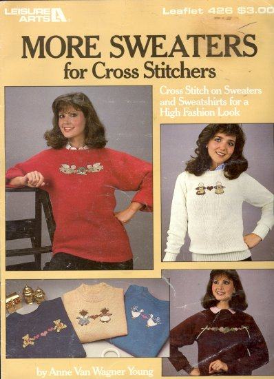 More Sweaters for Cross Stitchers by Anne Van Wagner Young ~ Cross-Stitch Chart 1986