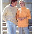 Country Style Double Knitting ~ Turtle and Crew Neck Sweaters ~ Knit Chart