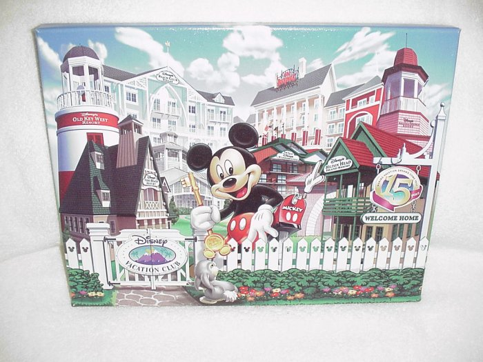 Disney Vacation Club 15th Anniversary Commemorative Giclee Print ~ 11 x 14 ~ MINT
