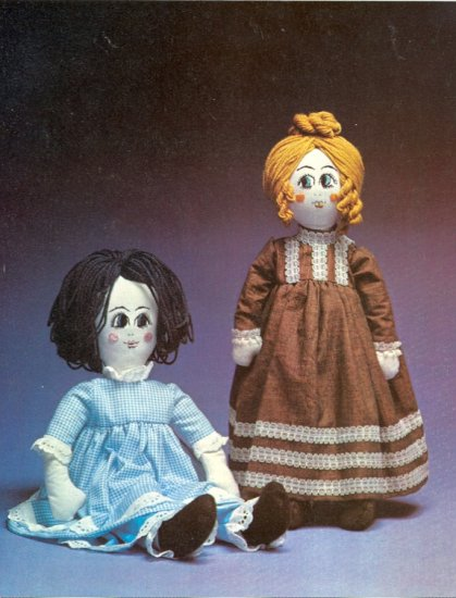 Vintage Rich Little Rag Dolls Pattern ~ Rags to Riches ~ 1972