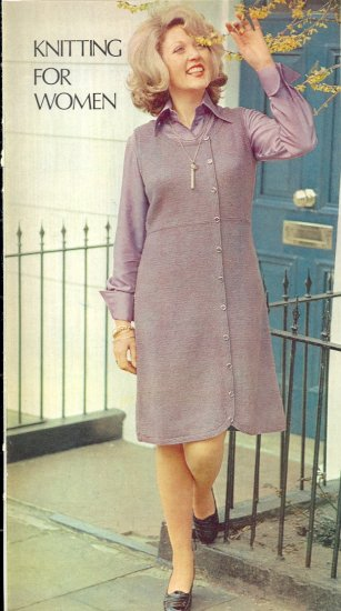 Vintage Knit Jumper Dress Pattern ~ Woman's Sizes ~ 1974