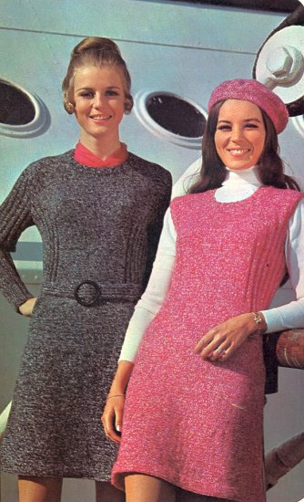 Vintage Knit Two From One Dress Pattern ( Sleeves & Sleeveless ) ~ Misses Sizes ~ 1971