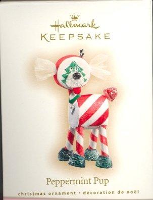 Hallmark Premiere Ornament ~ 2007 Peppermint Pup