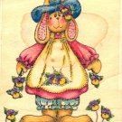 Bloomers ~ Rabbit ~ Rubber Stamp