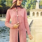 Vintage Knit Coat ~ Misses Sizes ~ 1972