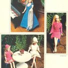 Vintage Barbie & Skipper Knit Patterns ~ Evening Gown & Stole, Suit & Dress & Hat ~ 1970's