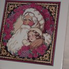 Dear Santa Fine Art Print by Marilyn Gandre ~ Santa with a girl, roses and grapes