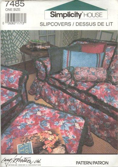 Simplicity Pattern # 7485 ~ Slipcovers ~ 1991 ~ UNCUT