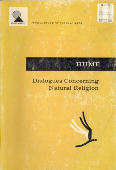 Dialogues Concerning Natural Religion by David Hume ~ Book 1947