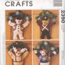 McCall's # 2390 ~ Bear Wreaths ~ Uncut Pattern ~ 1999