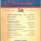 World Affairs Interpreter Book ~ Summer 1938