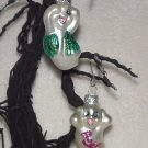 2 Ghosts ~ Halloween Blown Glass Ornaments