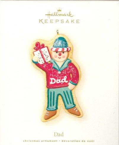Hallmark Ornament ~ Dad 2007 ~ Gingerbread Cookie