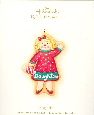Hallmark Ornament ~ Daughter 2007 ~ Gingerbread Cookie