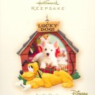 Hallmark Ornament ~ Lucky Dog! Pluto 2007 ~ Walt Disney ~ Holds Photo