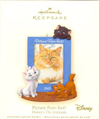 Hallmark Ornament ~ Picture Purr-fect!  The Aristocats 2007 ~ Walt Disney ~ Holds Photo