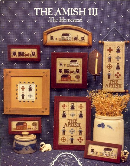 The Amish III The Homestead ~ Cross-Stitch Chart 1985
