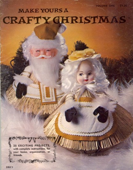 Make Yours a Crafty Christmas by Doreene Clement ~ RARE Readers Digest dolls ~ 1977