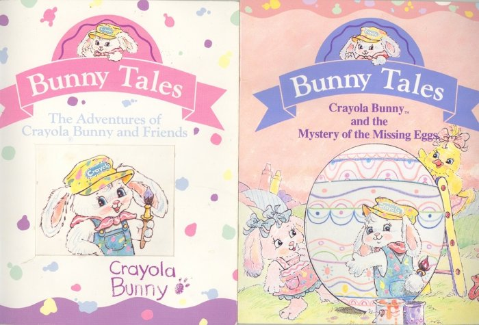2 Hallmark Bunny Tales Crayola Bunny Books 1991 & 1992