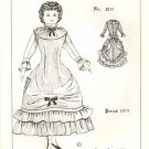 """Vintage Doll Dress Pattern ~ Period 1879 for a *Lady type doll ~ size 17 - 18"""""""