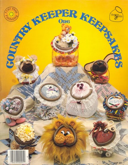 Country Keeper Keepsakes One (decorated jar lids) ~ 1985