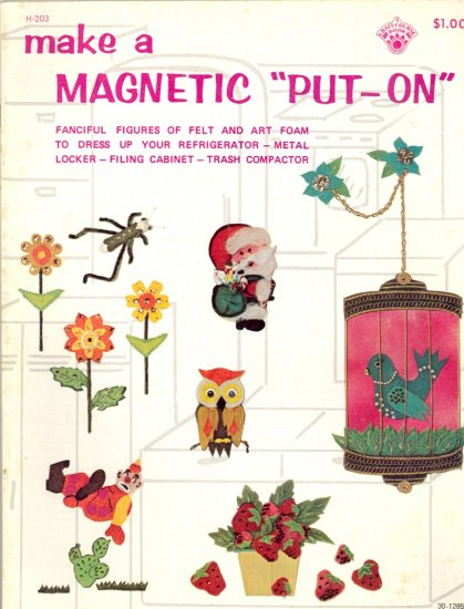 """Make a Magnetic """"Put - On"""" by Louise Starret ~ 1972"""