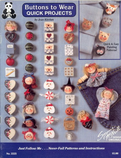 Buttons to Wear Quick Projects by Jean Kievlan ~ 1991