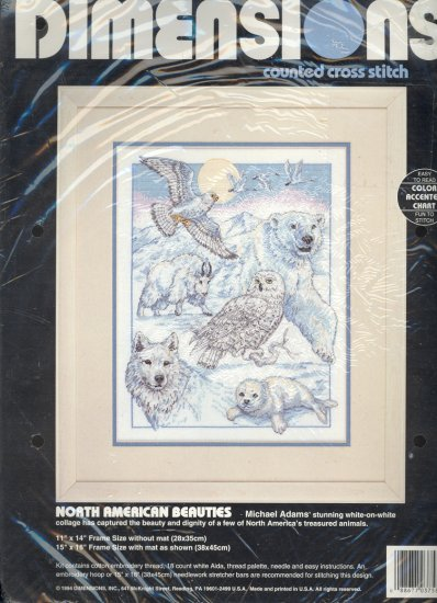 North American Beauties ~ Cross-Stitch Kit